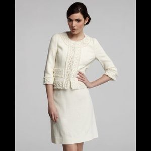 $325 Kate Spade Helena A-Line Tweed Ivory Skirt